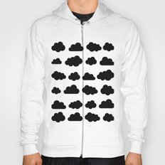 Black clouds - Black and white art Hoody
