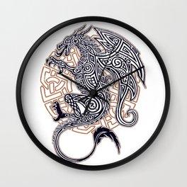Celtic dragon tattoo Wall Clock