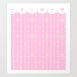Kawaii Pink Art Print