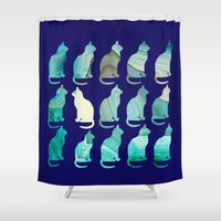 minerals Shower Curtains featuring MINERAL CATTERN by Catspaws