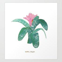 Silver Vase Plant Art Print