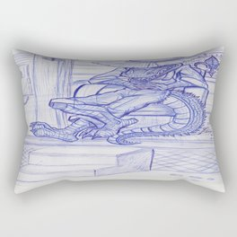 The Cajun Gator_Chillaxing Rectangular Pillow