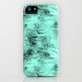 Patched Teal Waters iPhone Case