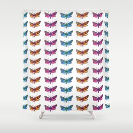 colorful butterflies pattern 1 Shower Curtain
