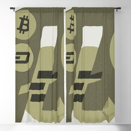 Ethereum, Bitcoin, Dash, Ripple, Litcoin pattern Blackout Curtain
