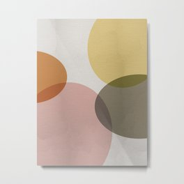 Pastel Shapes II Metal Print