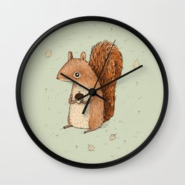 Sarah the Squirrel Wall Clock