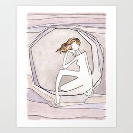 She Lives on the Moon Art Print