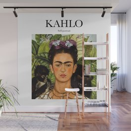 Kahlo - Self-portrait Wall Mural