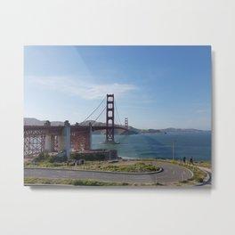 Sunny Golden Gate Bridge Metal Print