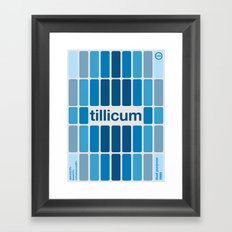 tillicum single hop Framed Art Print