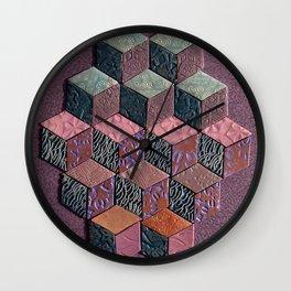 Tumbling Blocks #6 Wall Clock