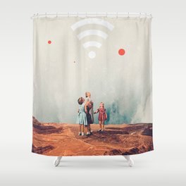 Wirelessly connected to Eternity Shower Curtain