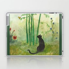 Black Cat in the Bamboo Laptop & iPad Skin