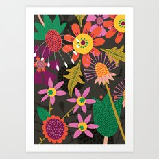 Jungle Flowers Art Print