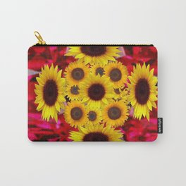 JULY RUBY RED GEMSTONES & YELLOW FLOWERS Carry-All Pouch
