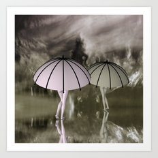 when the weather is bad Art Print