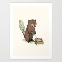 Beaver. Art Print