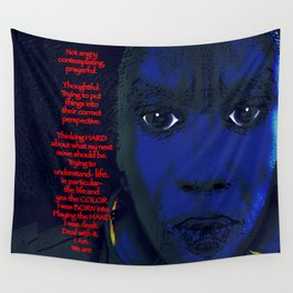 Angry Black Woman Wall Tapestry