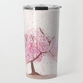Watercolour Cherry Blossom Tree Travel Mug