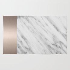 Carrara Italian Marble Holiday White Gold Edition Rug