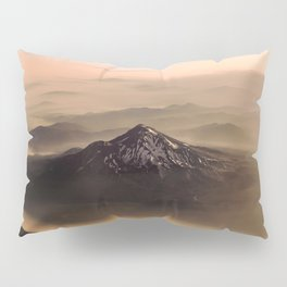 The West is Burning - Mt Shasta - nature photography Pillow Sham