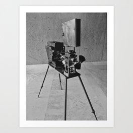 Vintage Cinema Camera Art Print