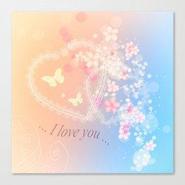 ... i love you ... Canvas Print