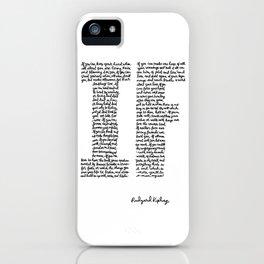 If Poem iPhone Case
