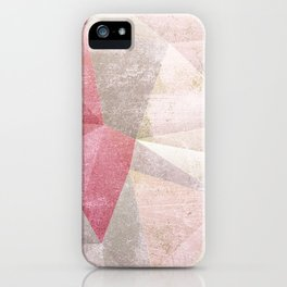 Frozen Geometry - Blush & Champagne #abstractart iPhone Case