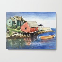 Peggy's Cove Nova Scotia Canada Metal Print