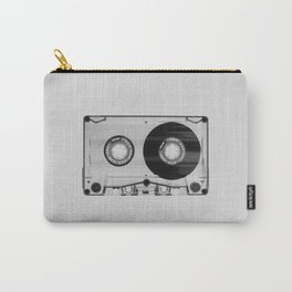Vintage 80's Cassette - Black and White Retro Eighties Technology Art Print Wall Decor from 1980's Carry-All Pouch