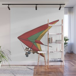 Squirrel in a hang glider Wall Mural