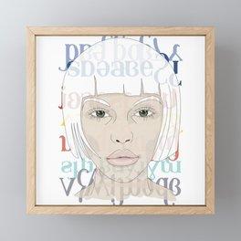 Atlantis girl Framed Mini Art Print