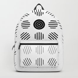 Black and White centered lines Backpack