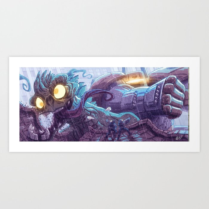 Kill All The Monsters! Art Print