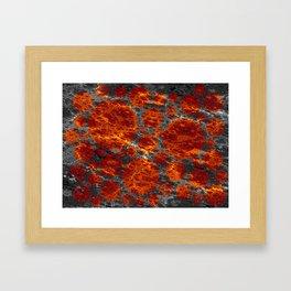 red dwarf region Framed Art Print