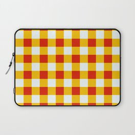 Red White Yellow Checkerboard Pattern Laptop Sleeve