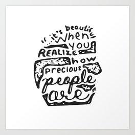 Precious People Art Print