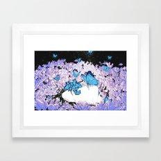 Butterflies are Terrifying Framed Art Print