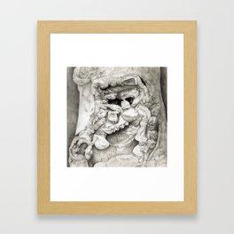 Old Man in Tree Bark Framed Art Print