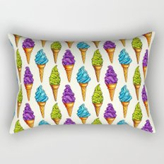 Ice Cream Blue Purple Green Rectangular Pillow