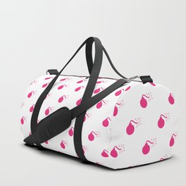 HOT PINK BOMB DIGGITYS ALL OVER LARGE Duffle Bag