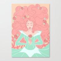 sleep Canvas Prints featuring Sleep by Taija Vigilia