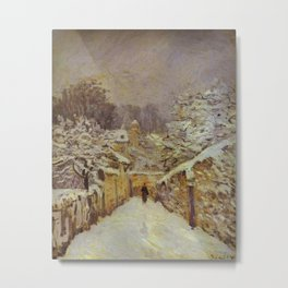 Alfred Sisley - La neige a Louveciennes Metal Print