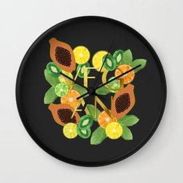 Vegan Fruit Wall Clock