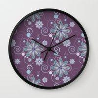 brooklyn Wall Clocks featuring Brooklyn by HollyPop Designs