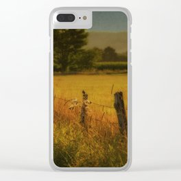 Landscape whit field Clear iPhone Case