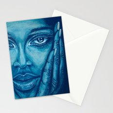look at me-blue Stationery Cards