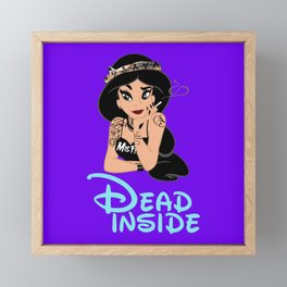 Dead Inside Framed Mini Art Print